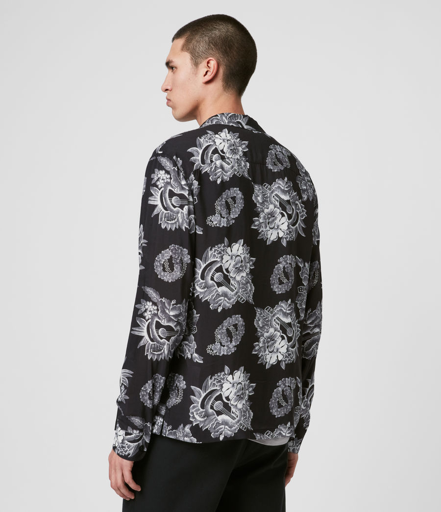 Mens Garland Shirt (black) - Image 4