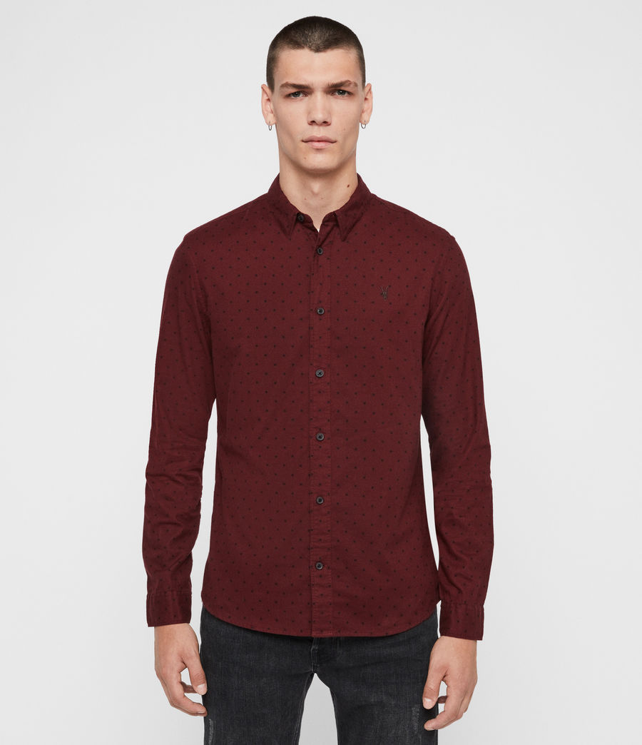 Men's Bethel Shirt (red_black) - Image 1