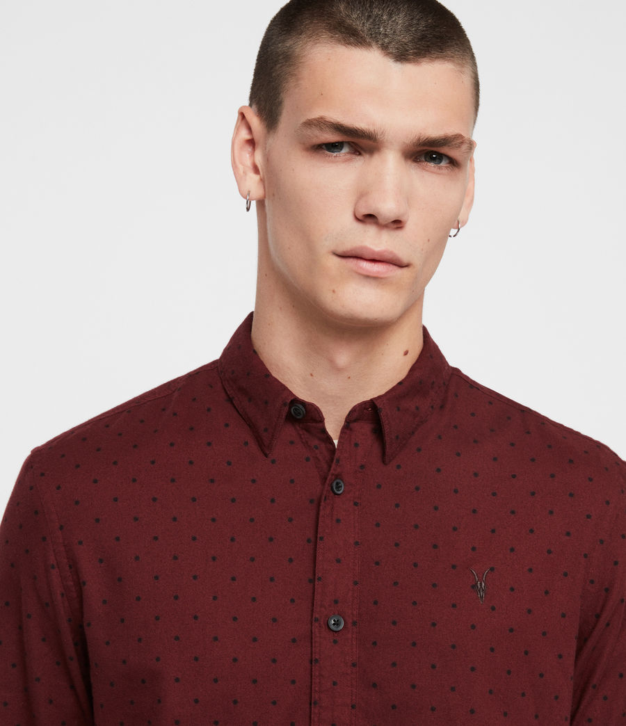 Men's Bethel Shirt (red_black) - Image 2
