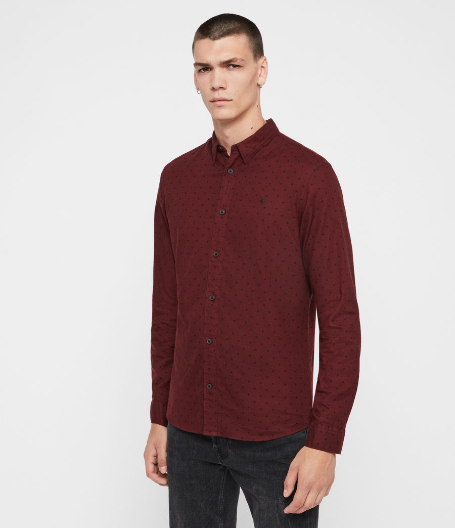 Men's Bethel Shirt (red_black) - Image 4