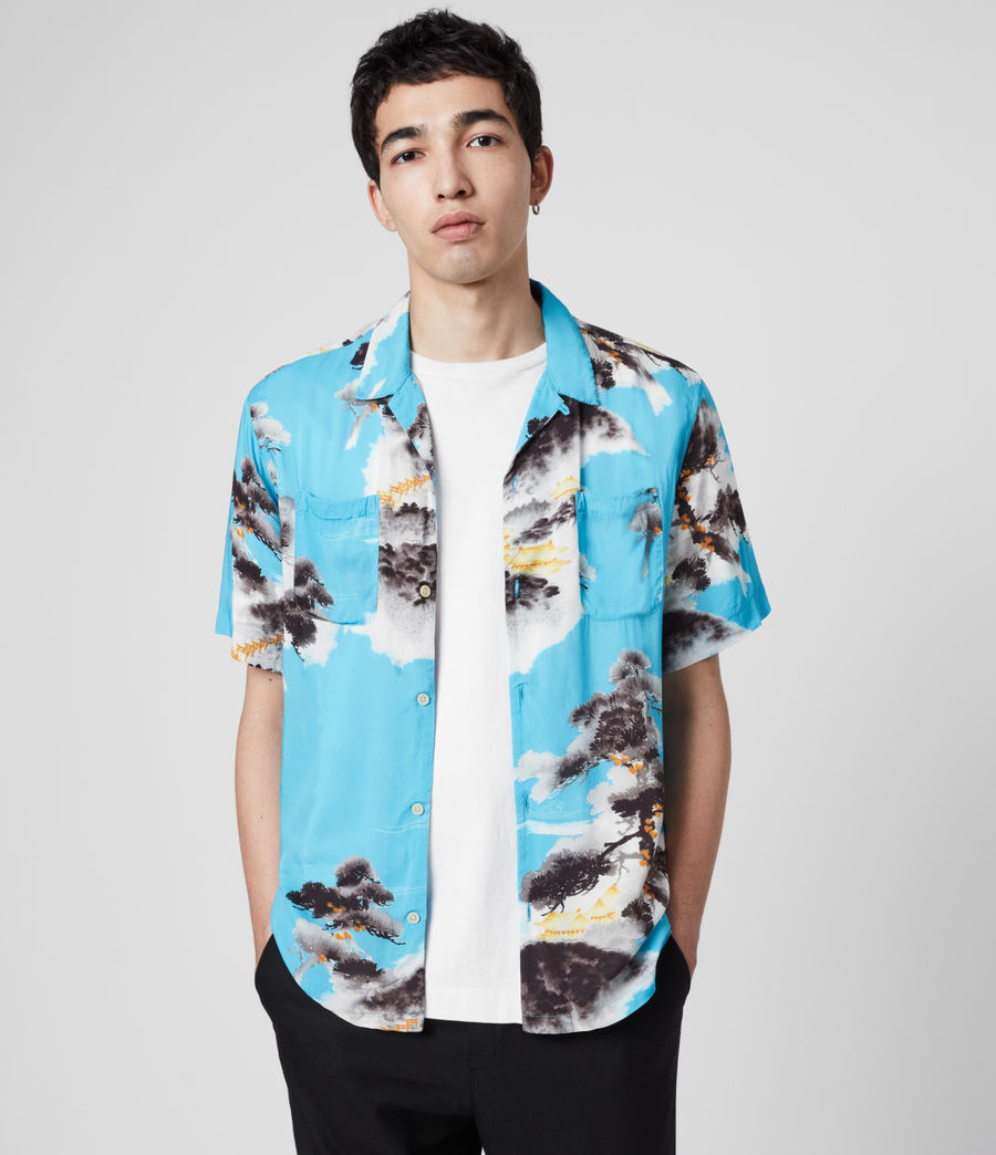 Men's Hida Shirt (hawaii_blue) - Image 1