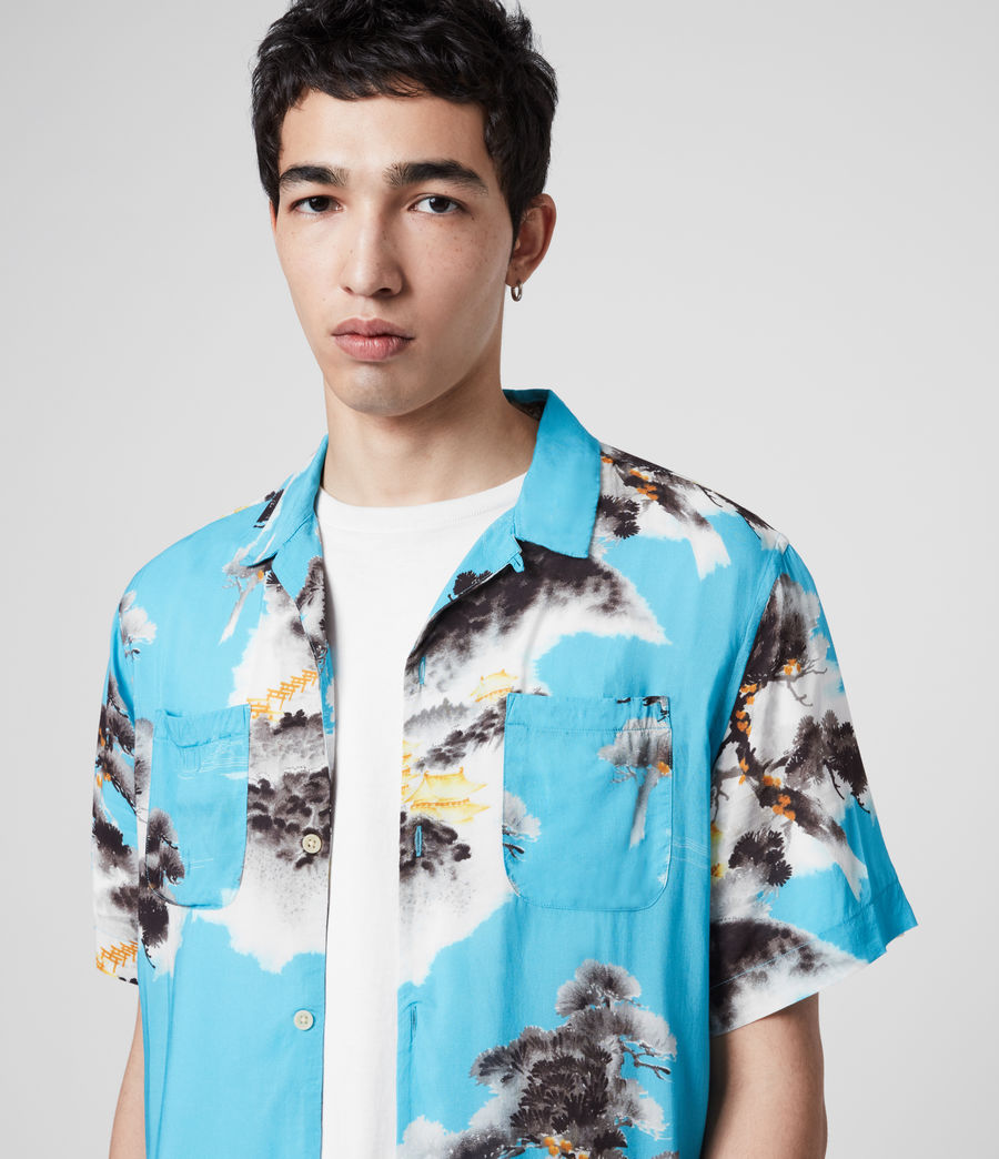 Men's Hida Shirt (hawaii_blue) - Image 2