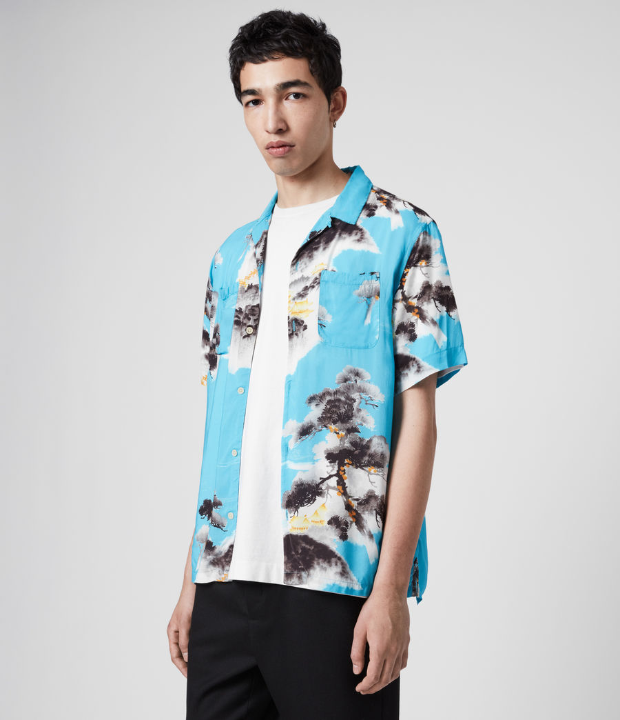 Men's Hida Shirt (hawaii_blue) - Image 4