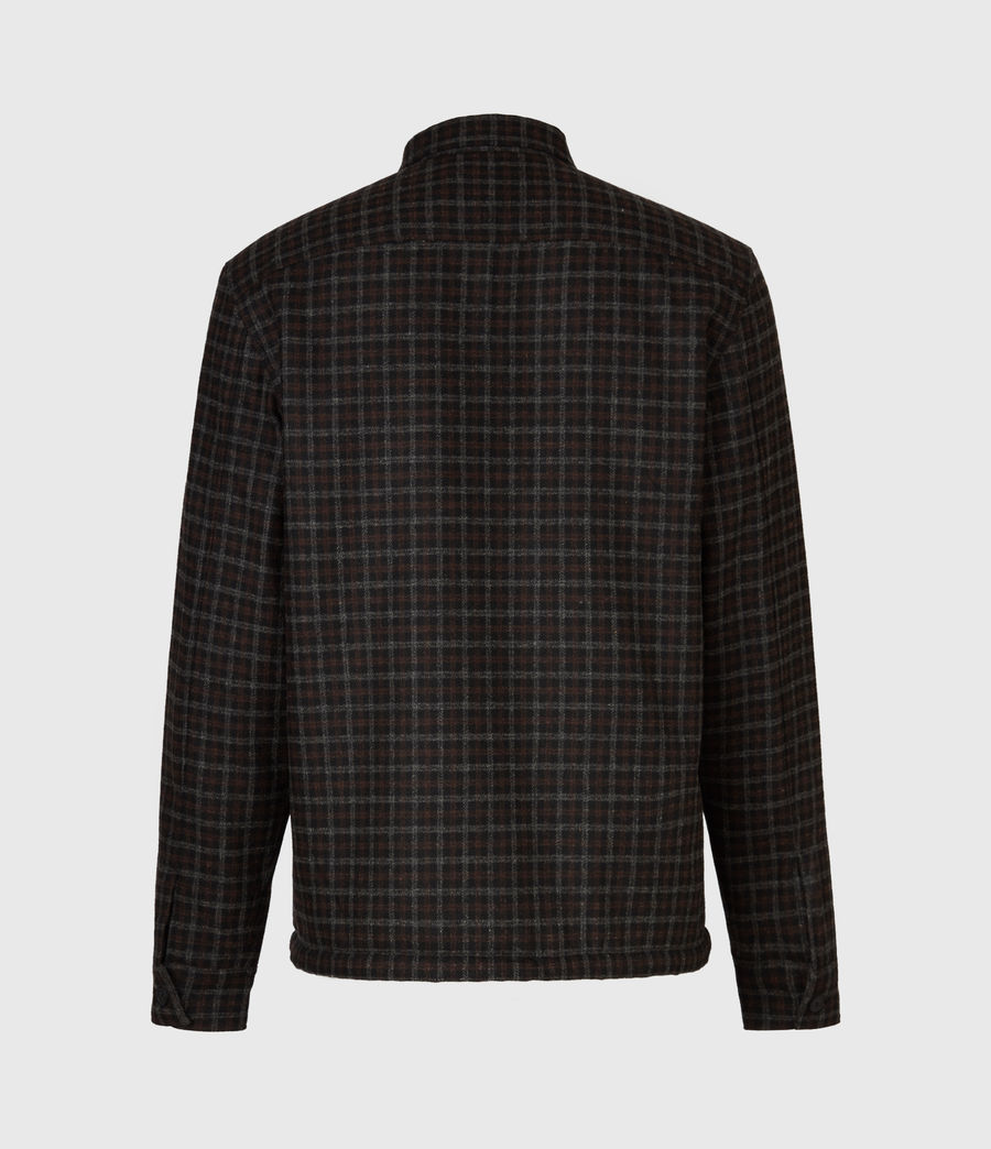 Men's Seaford Sherpa-Lined Shirt (black) - Image 3