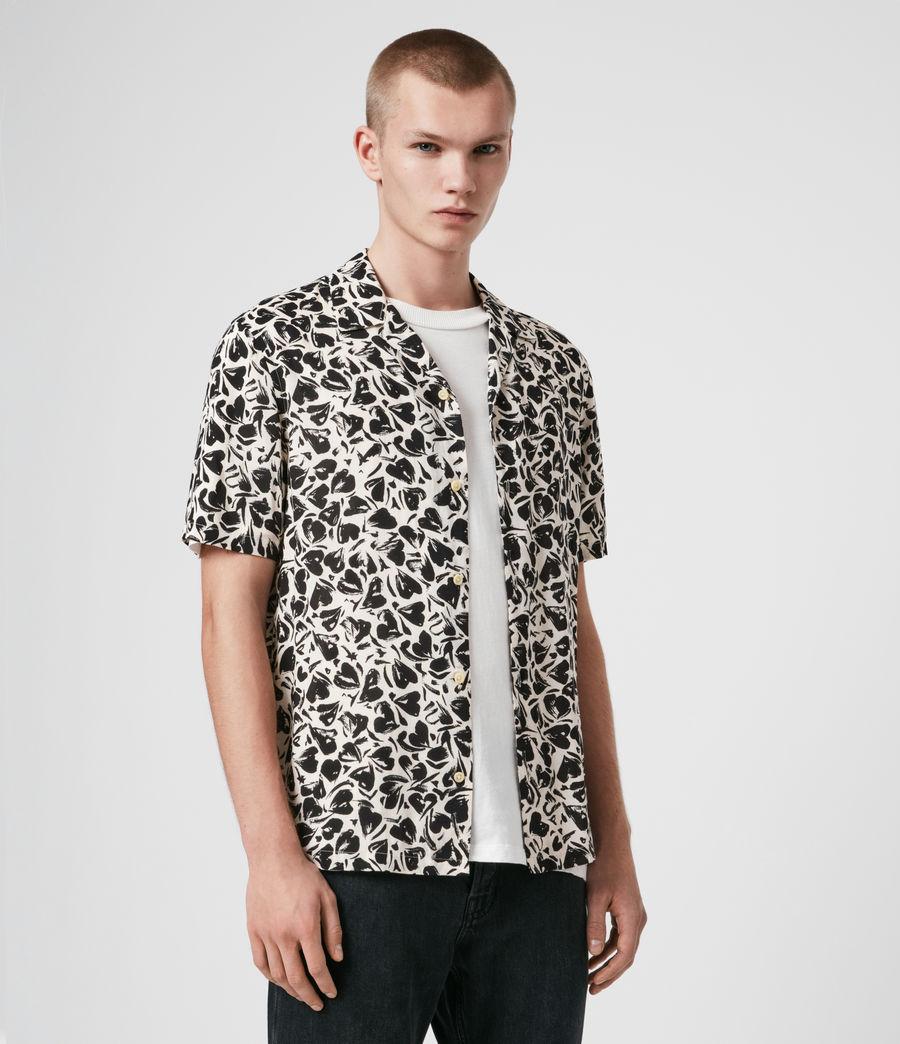Men's Heartbreak Short Sleeve Shirt (ecru_jet_black) - Image 4