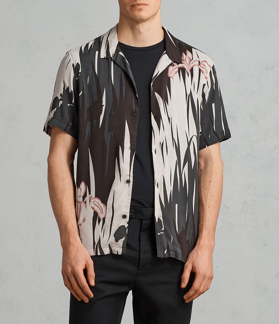 Mens Nahiku Short Sleeve Shirt (black) - Image 1