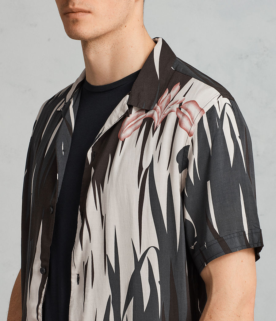 Mens Nahiku Short Sleeve Shirt (black) - Image 2