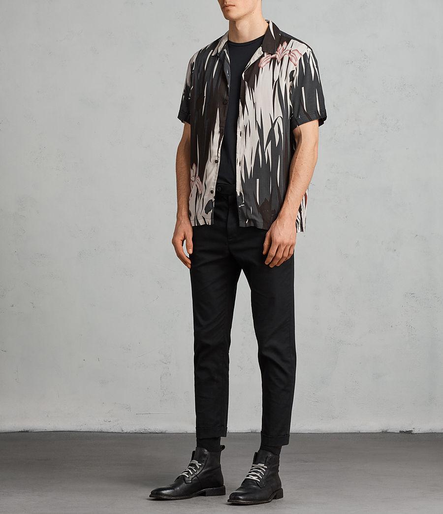 Mens Nahiku Short Sleeve Shirt (black) - Image 3