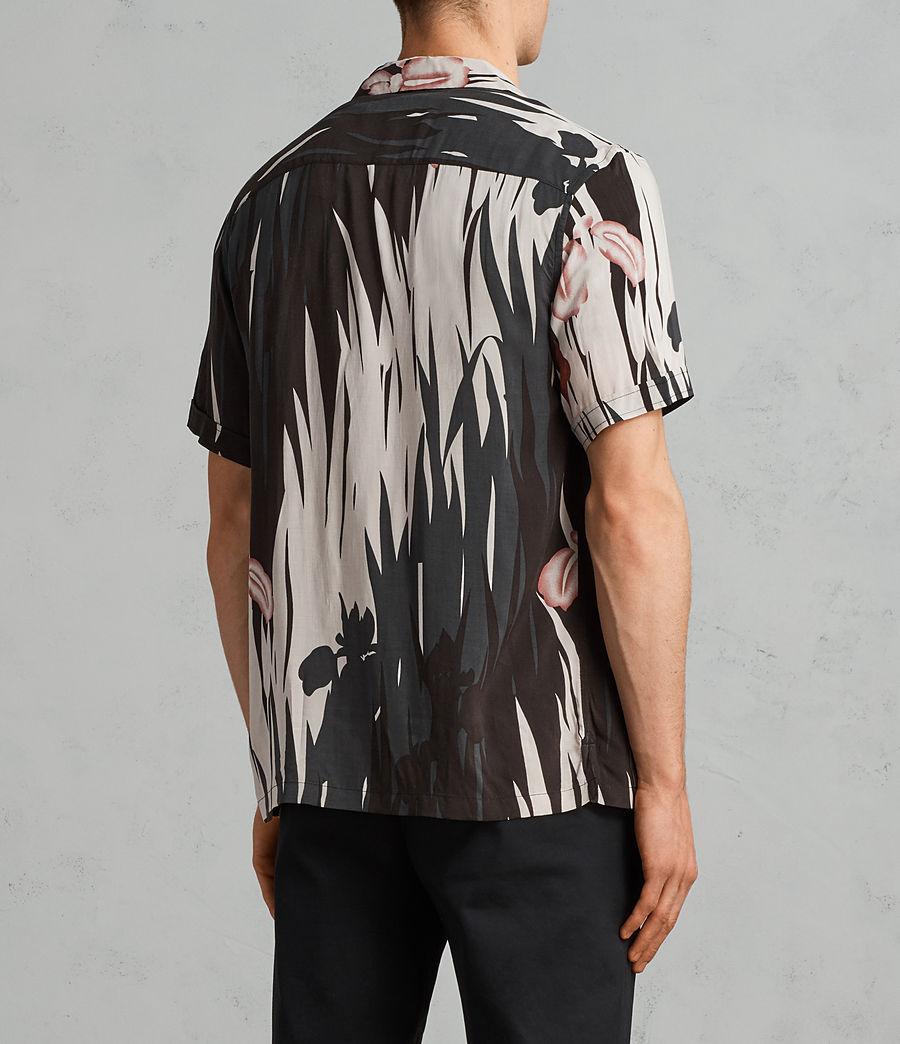 Mens Nahiku Short Sleeve Shirt (black) - Image 4