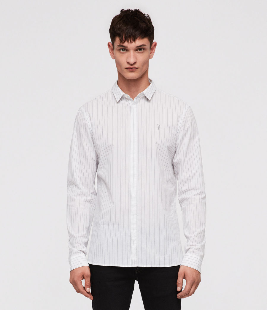 Mens Austin Shirt (white_ink_stripe) - Image 1
