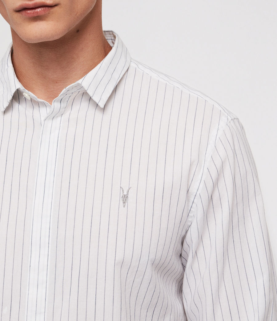 Mens Austin Shirt (white_ink_stripe) - Image 2