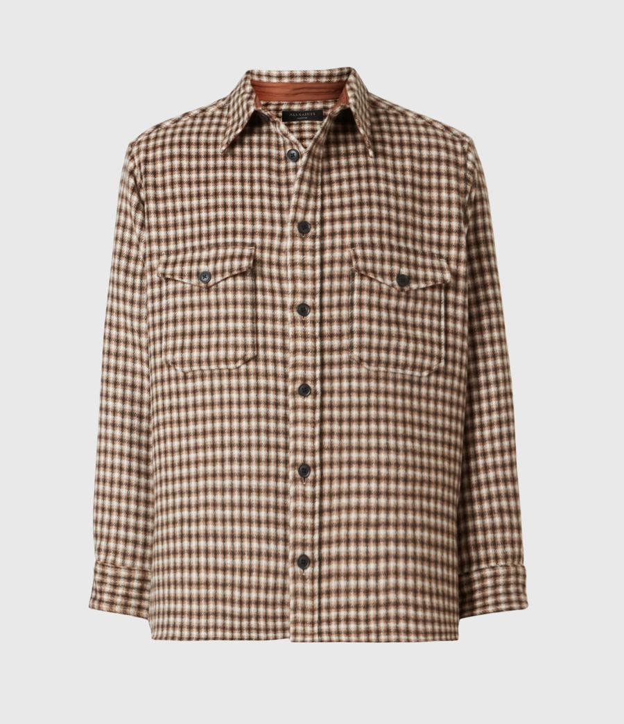 Men's Tierra Shirt (ecru_brown) - Image 2