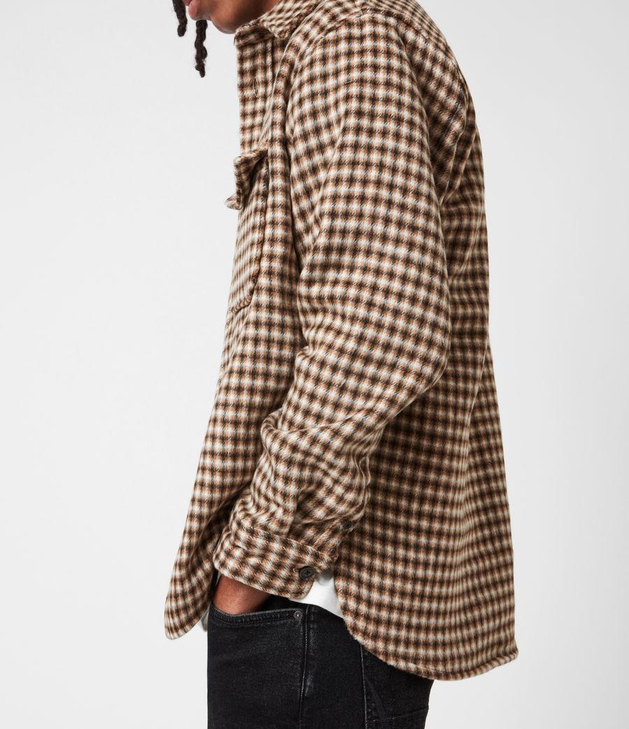 Men's Tierra Shirt (ecru_brown) - Image 6