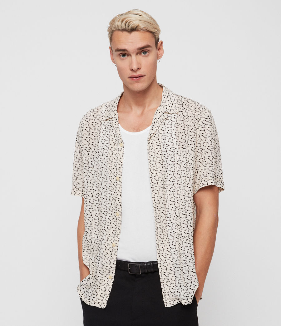 Men's Notes Shirt (ecru_white) - Image 2