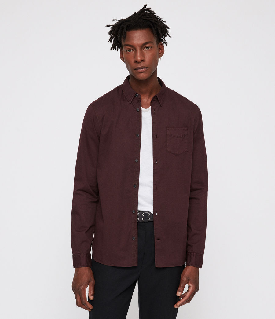 Men's Dilla Shirt (oxblood_red) - Image 1