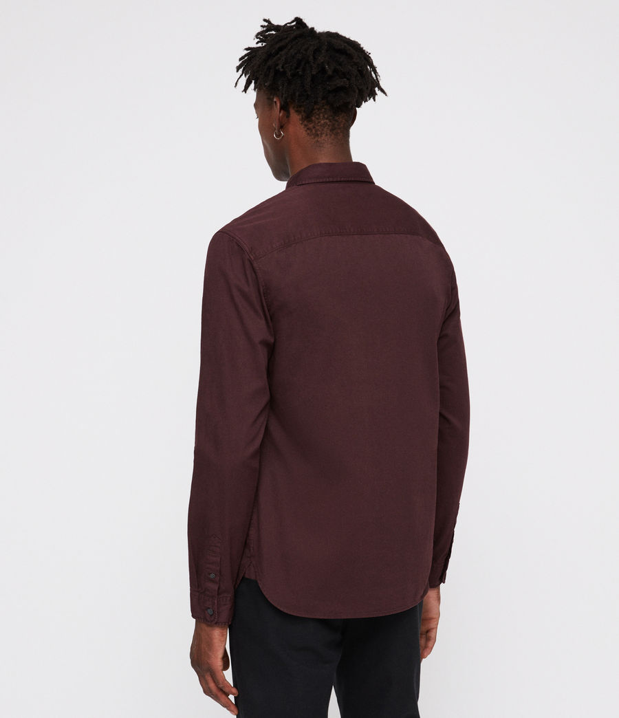 Hommes Chemise Dilla (oxblood_red) - Image 3