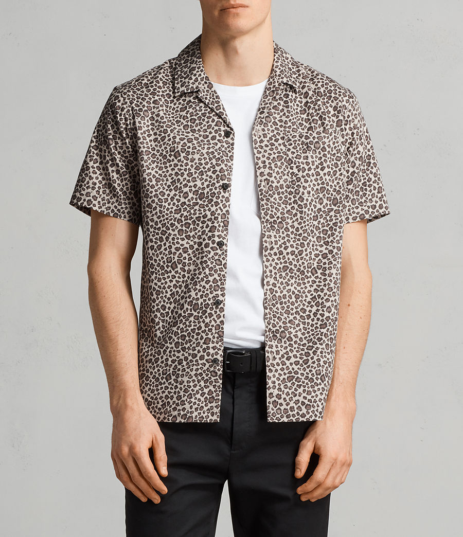 Mens Apex Hawaiian Shirt (light_brown) - Image 1