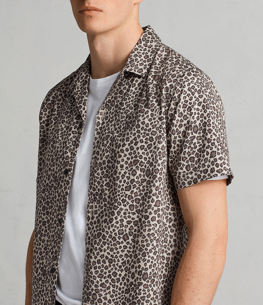 Mens Apex Hawaiian Shirt (light_brown) - Image 2