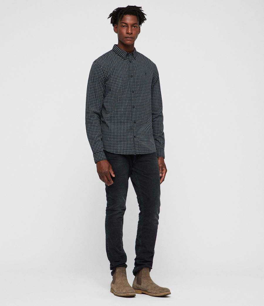 Mens Murdo Shirt (black_grey) - Image 1