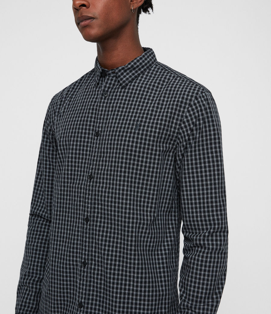 Mens Murdo Shirt (black_grey) - Image 2
