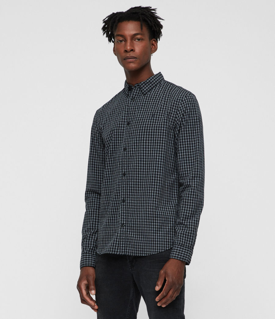 Mens Murdo Shirt (black_grey) - Image 3