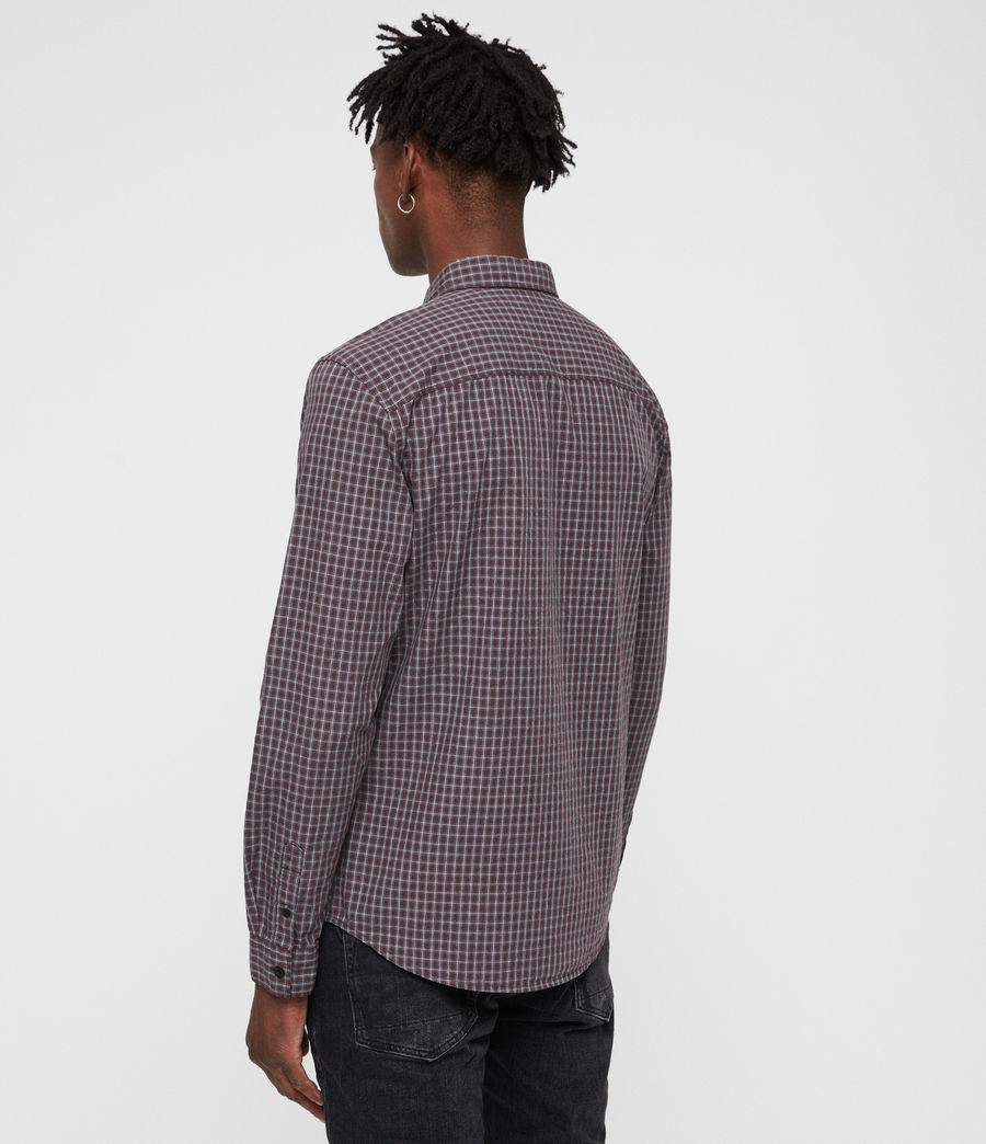 Men's Murdo Shirt (oxblood_grey) - Image 5