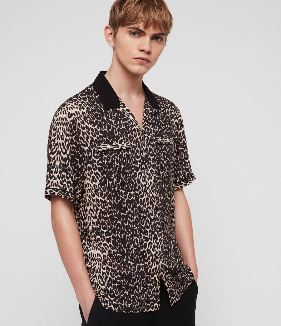 Men's Feline Shirt (ecru_white) - Image 1
