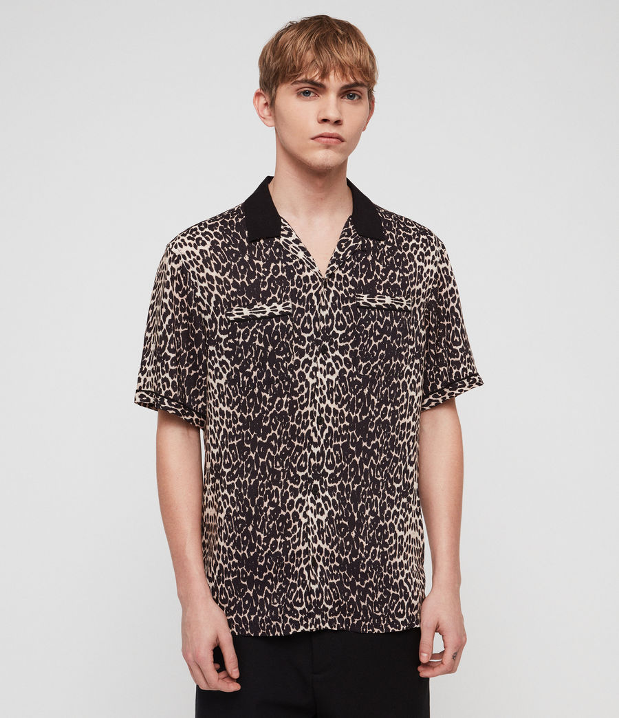 Men's Feline Shirt (ecru_white) - Image 3