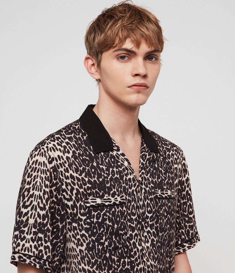 Men's Feline Shirt (ecru_white) - Image 4