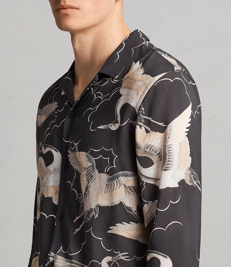 Mens Romaji Long Sleeve Shirt (washed_black) - Image 2