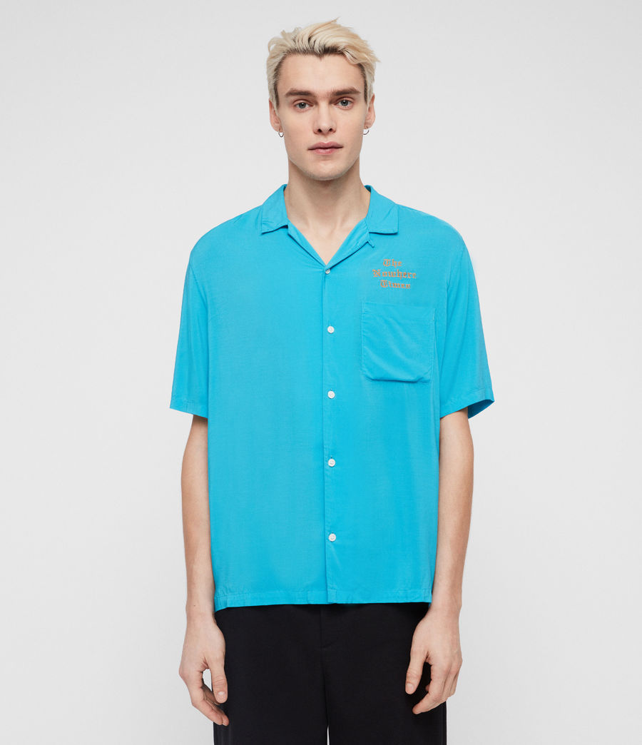 Mens Oblivion Shirt (tropicana_blue) - Image 1