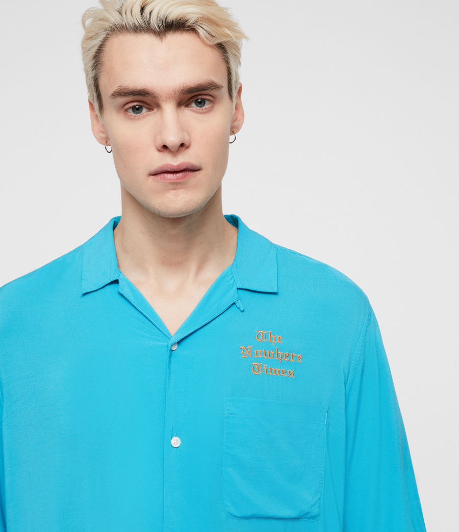 Men's Oblivion Shirt (tropicana_blue) - Image 2