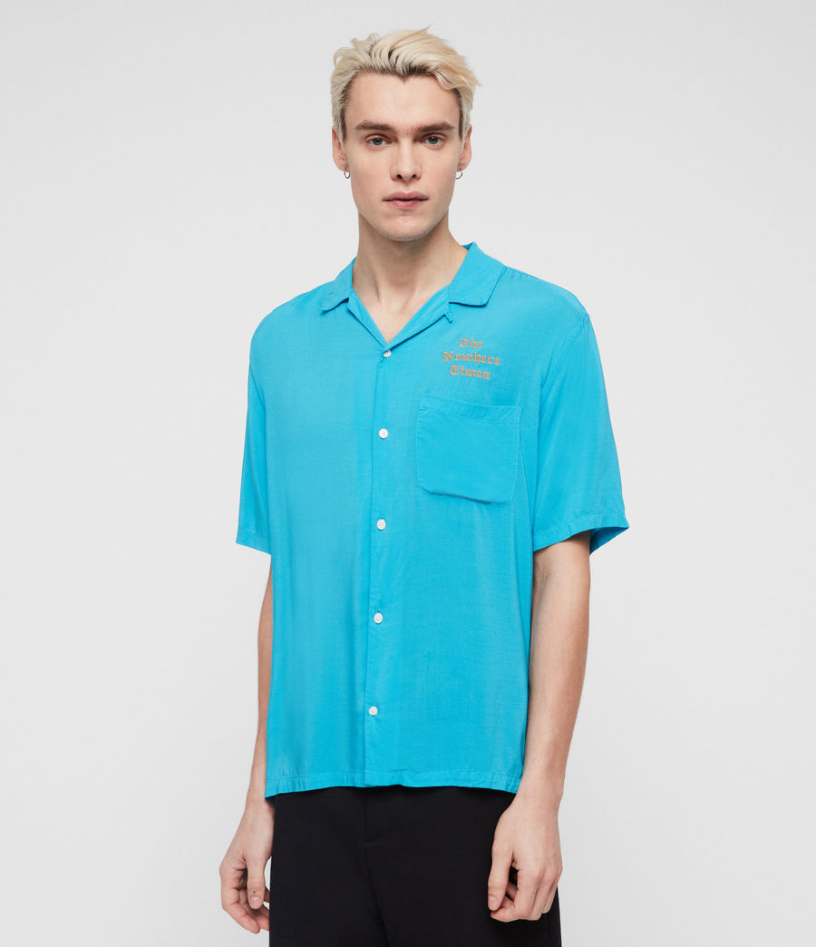 Men's Oblivion Shirt (tropicana_blue) - Image 4