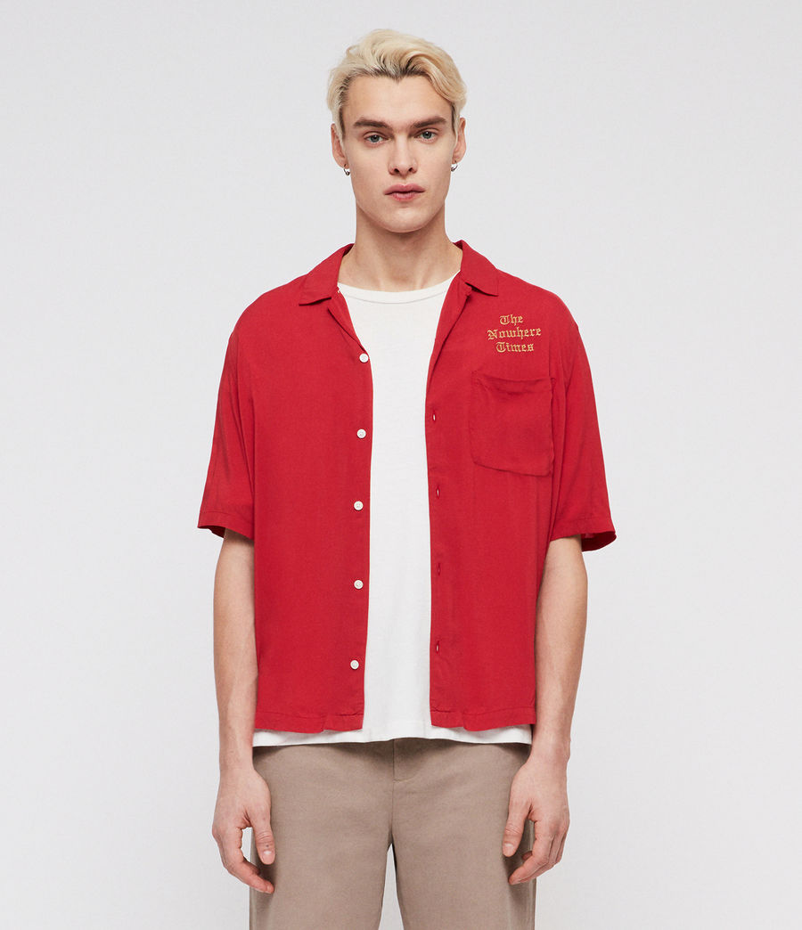 Uomo Camicia Oblivion (flash_red) - Image 1