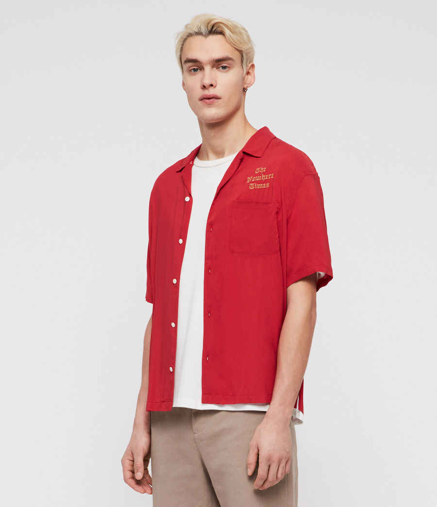 Men's Oblivion Shirt (flash_red) - Image 3