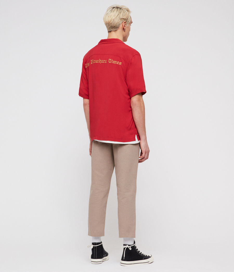 Men's Oblivion Shirt (flash_red) - Image 4