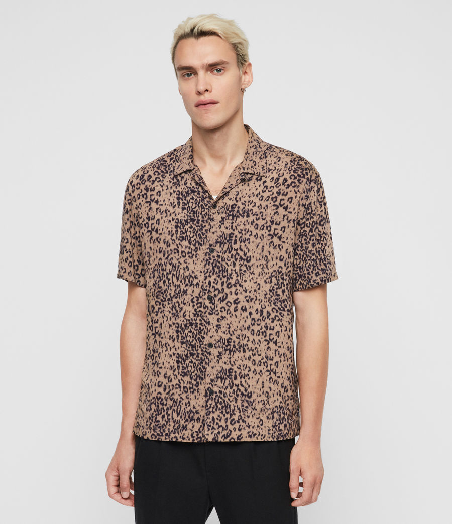 Mens Patch Shirt (brown_black) - Image 1