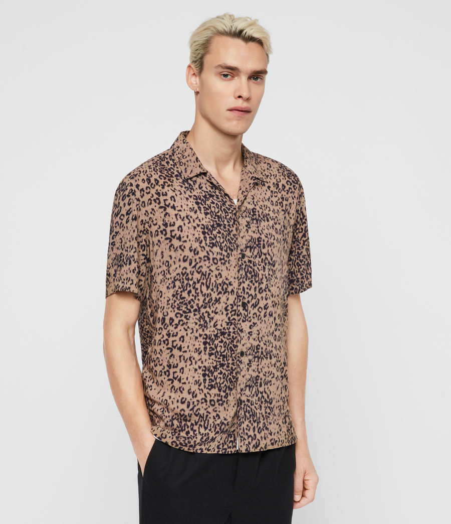 Mens Patch Shirt (brown_black) - Image 4