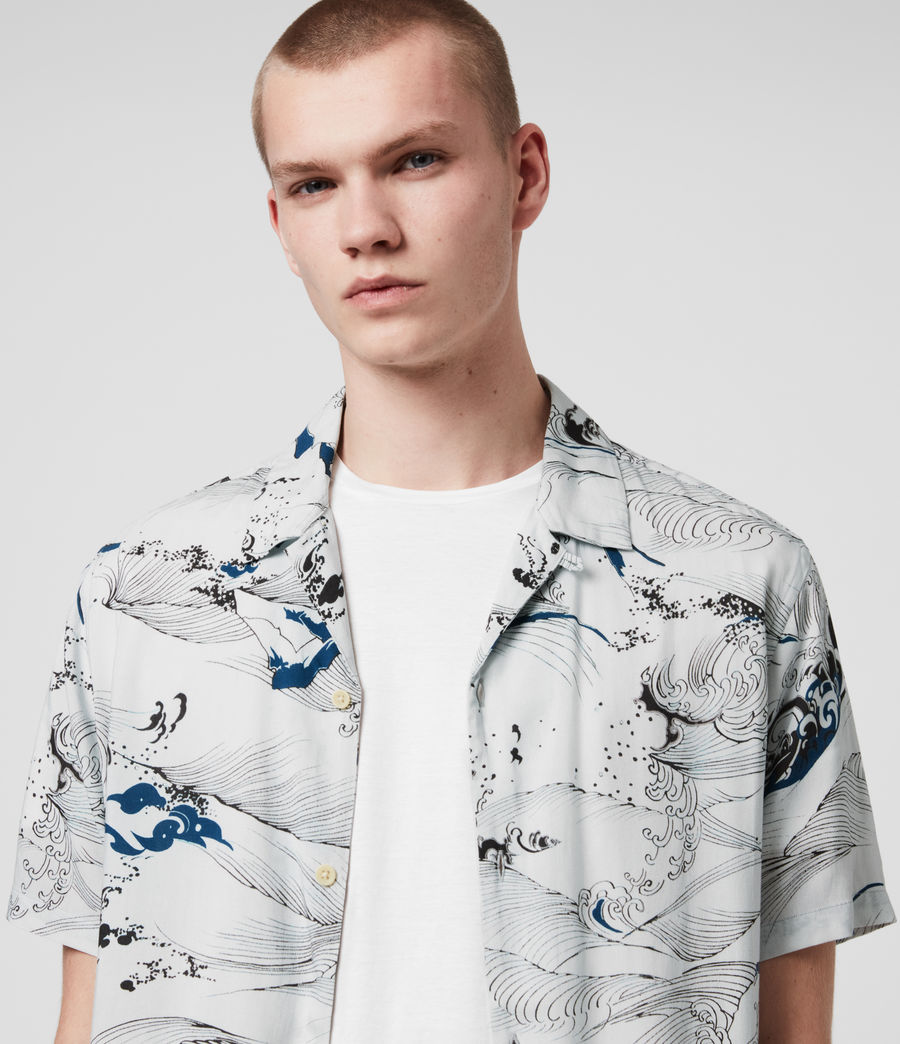 Hommes Flood Shirt (chilli_red) - Image 2