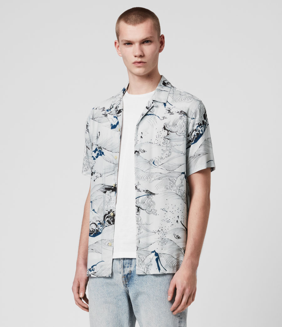 Hommes Flood Shirt (chilli_red) - Image 3