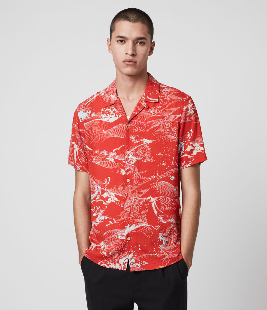 Hombres Flood Shirt (chilli_red) - Image 1