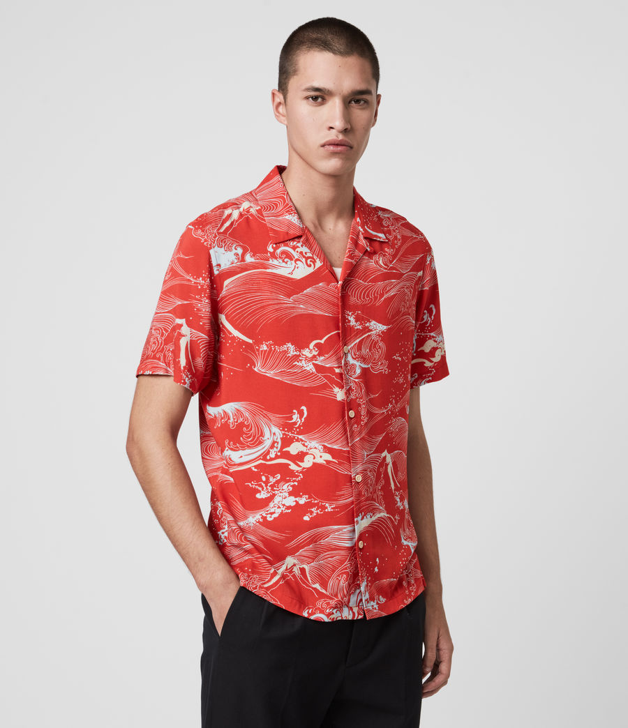 Mens Flood Shirt (chilli_red) - Image 4