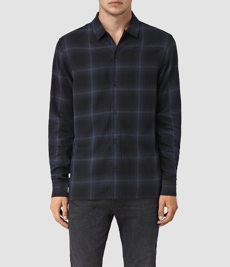 Men's Volborg Check Shirt (dark_ink) - Image 1
