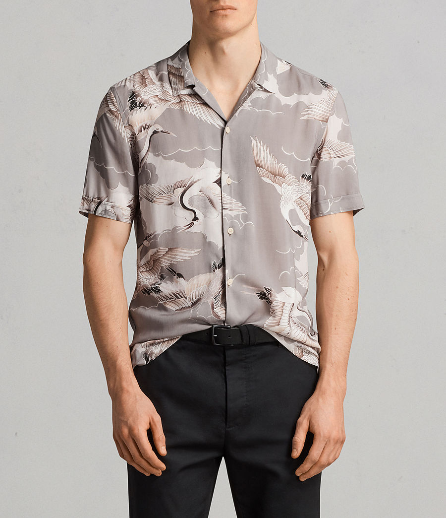 Men's Romaji Short Sleeve Shirt (light_grey) - Image 1