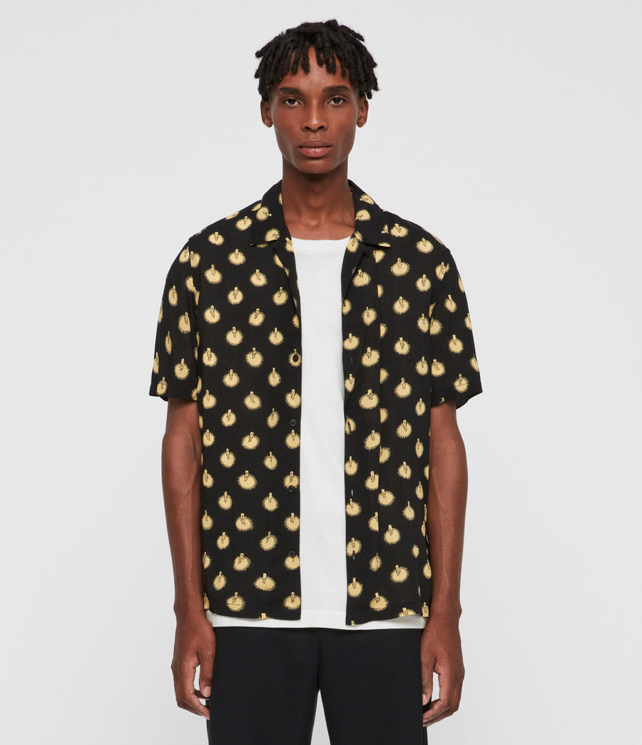 Mens Candlelight Shirt (jet_black_yellow) - Image 1