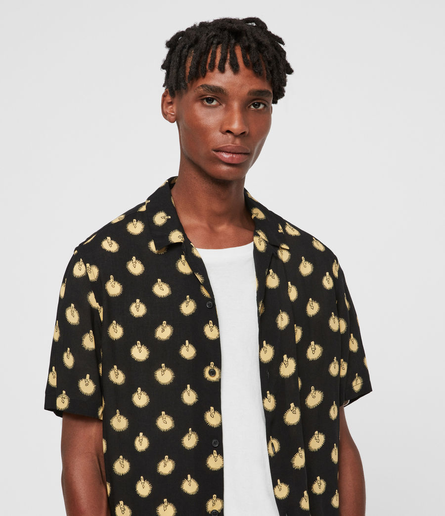 Men's Candlelight Shirt (jet_black_yellow) - Image 1
