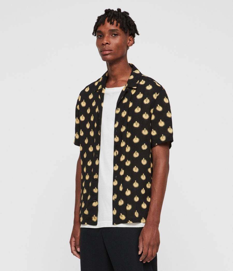 Men's Candlelight Shirt (jet_black_yellow) - Image 3