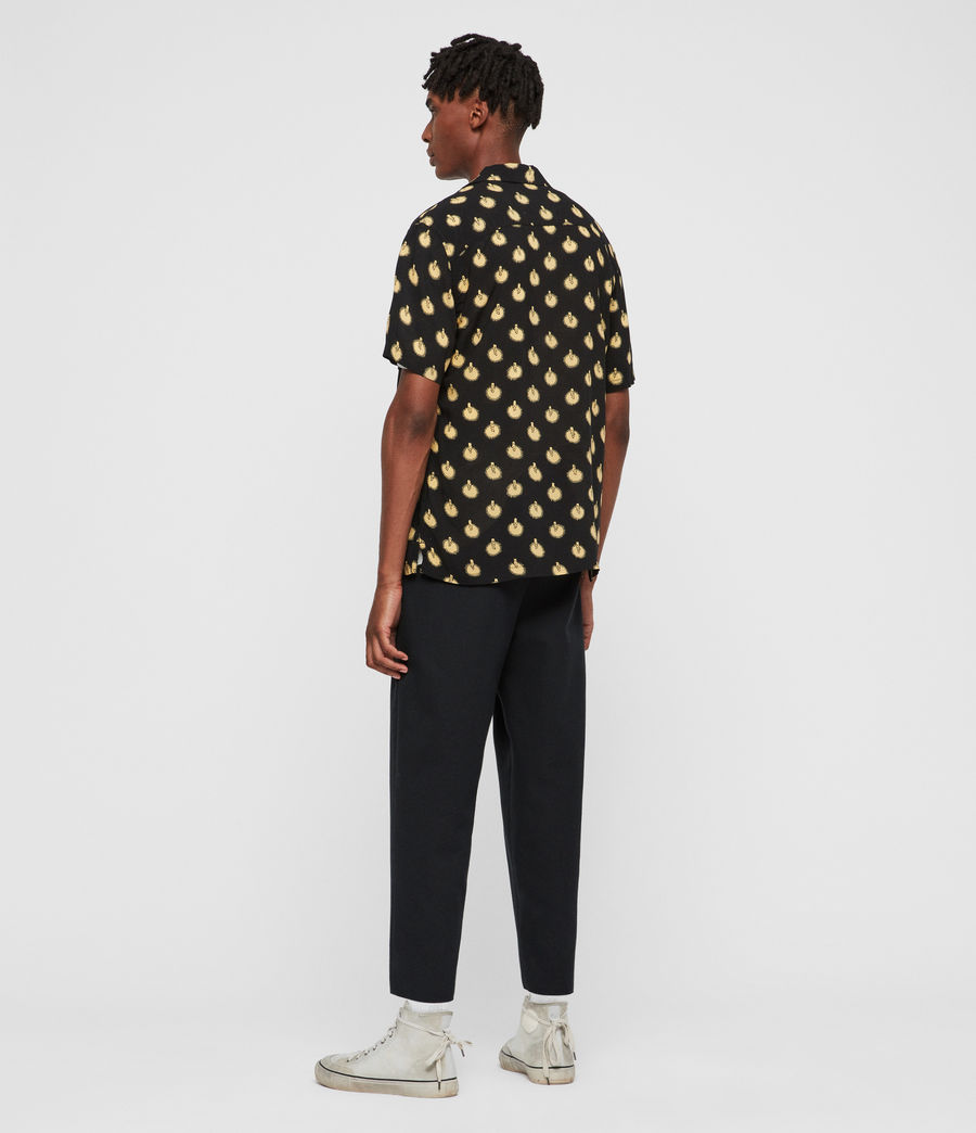 Men's Candlelight Shirt (jet_black_yellow) - Image 4