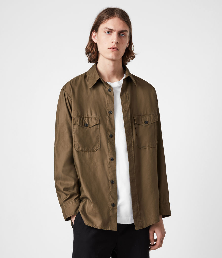 Men's Division Military Shirt (khaki_green) - Image 1