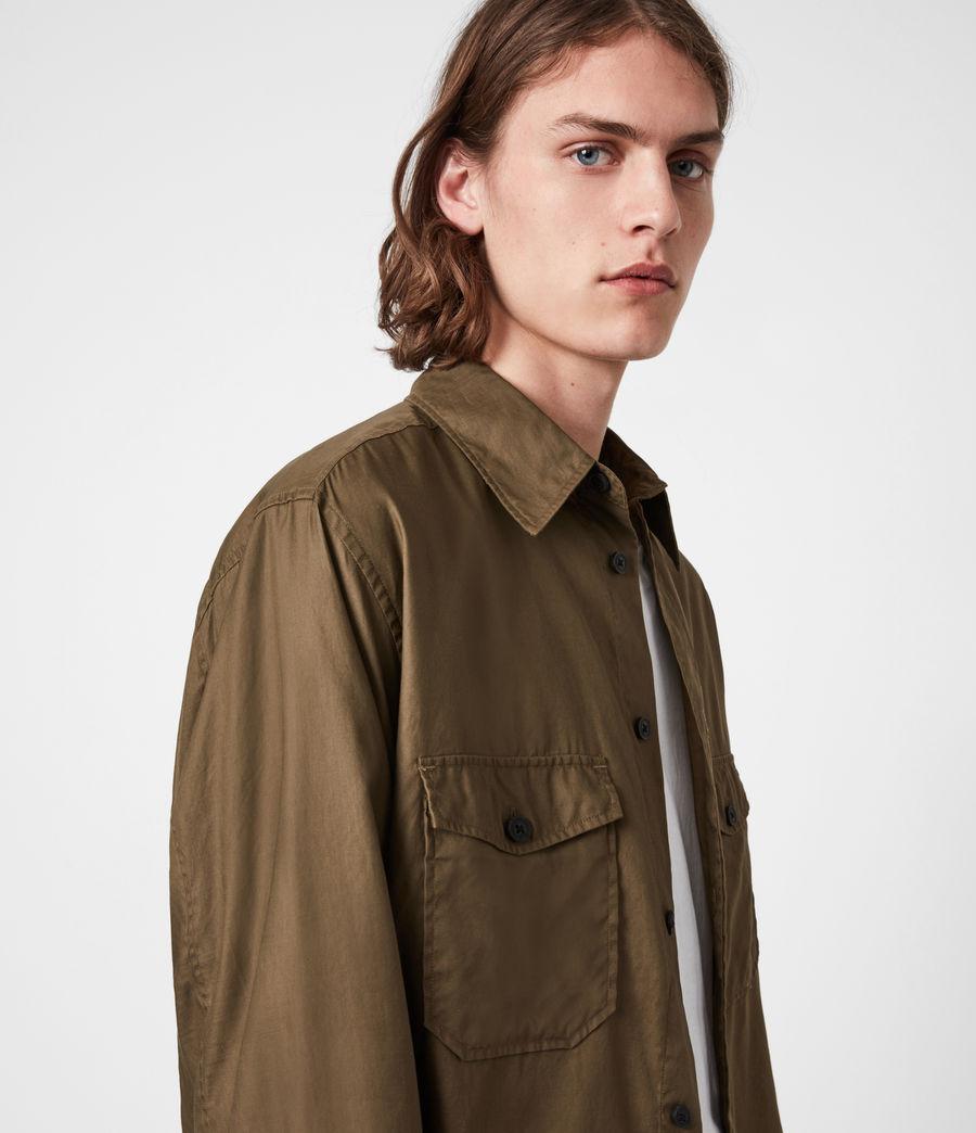 Men's Division Military Shirt (khaki_green) - Image 4